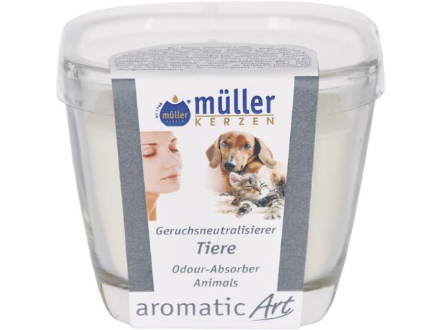Świeca w szkle neutralizująca zapach zwierzęta Muller