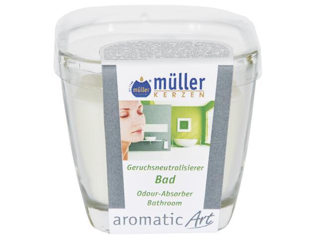 Świeca w szkle neutralizująca zapach łazienka Muller