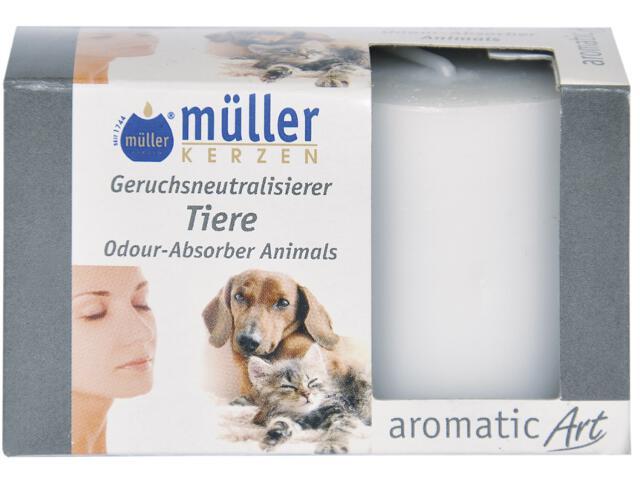 Świeca walec neutralizująca zapach kpl 2szt zwierzęta Muller