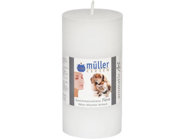 Świeca walec polarowy neutralizująca zapach 100x50mm zwierzęta Muller