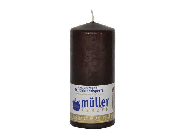 Świeca walec 130x55mm kolor schoko Muller