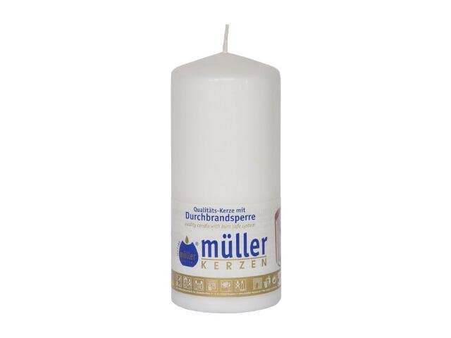Świeca walec 130x55mm kolor biały Muller
