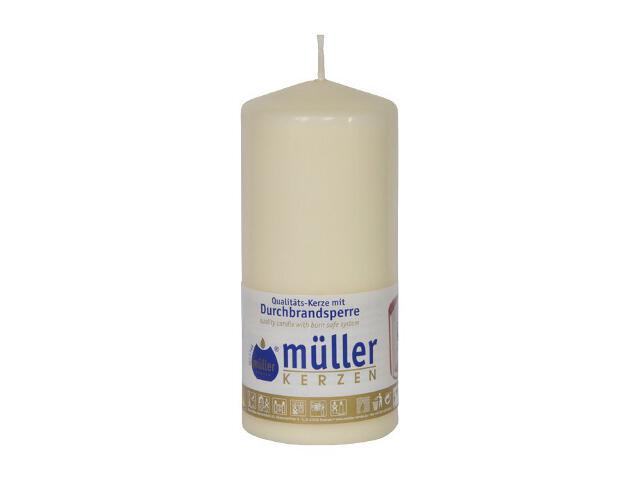 Świeca walec 130x55mm kolor waniliowy Muller