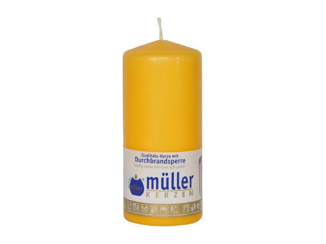 Świeca walec 130x55mm kolor żółty Muller