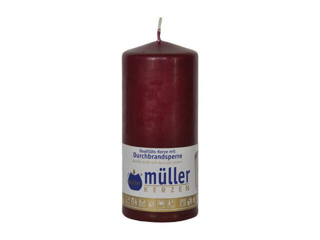 Świeca walec 130x55mm kolor wina Muller