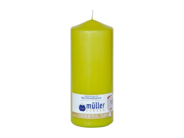 Świeca walec 180x70mm kolor majowa zieleń Muller