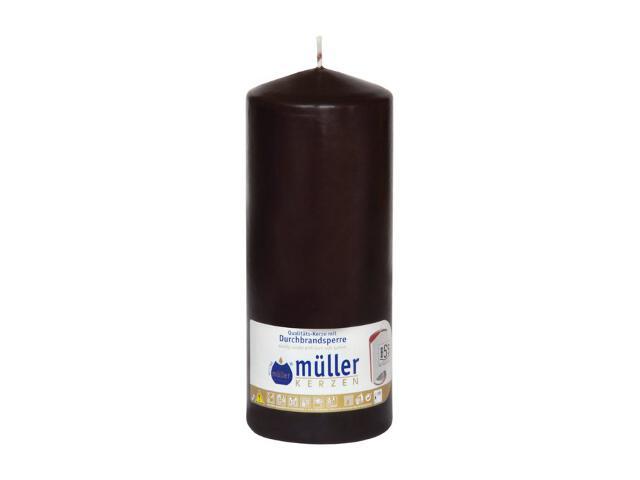 Świeca walec 180x70mm kolor schoko Muller