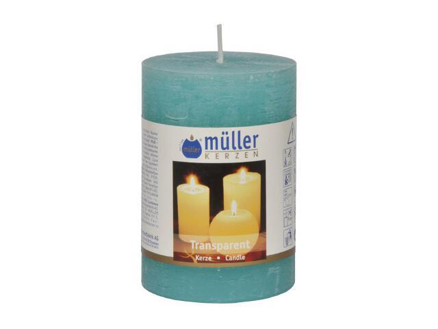 Świeca walec 100x68mm kolor turkus Muller