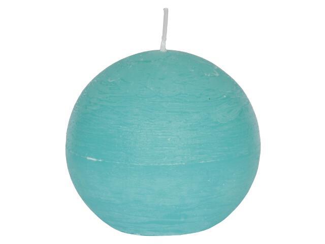 Świeca kula polarowa 136mm kolor turkus Muller