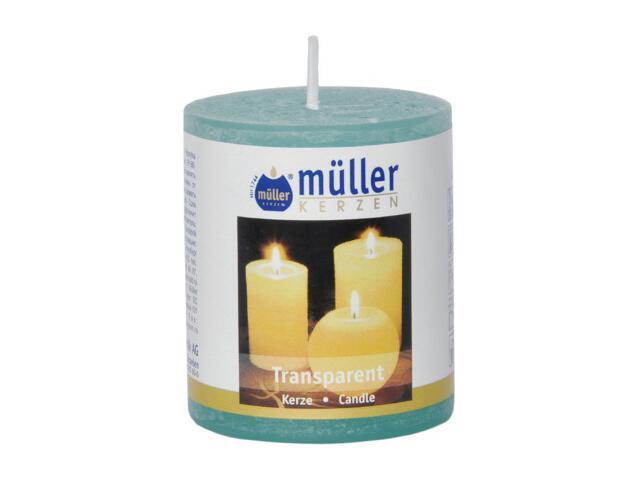 Świeca walec polarowy 60x50mm kolor turkus Muller