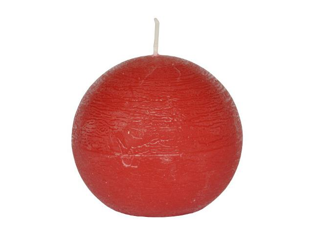 Świeca kula polarowa 136mm kolor czerwony Muller