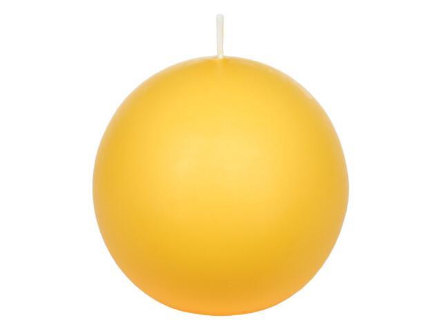 Świeca kula 95mm kolor żółty Muller