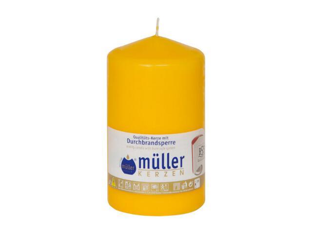 Świeca walec 130x75mm kolor żółty Muller