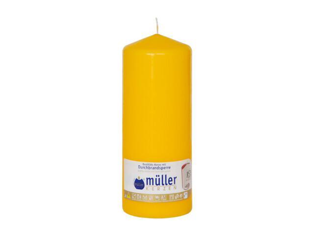 Świeca walec 180x70mm kolor żółty Muller