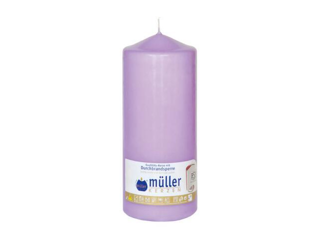Świeca walec 200x80mm kolor bzu Muller