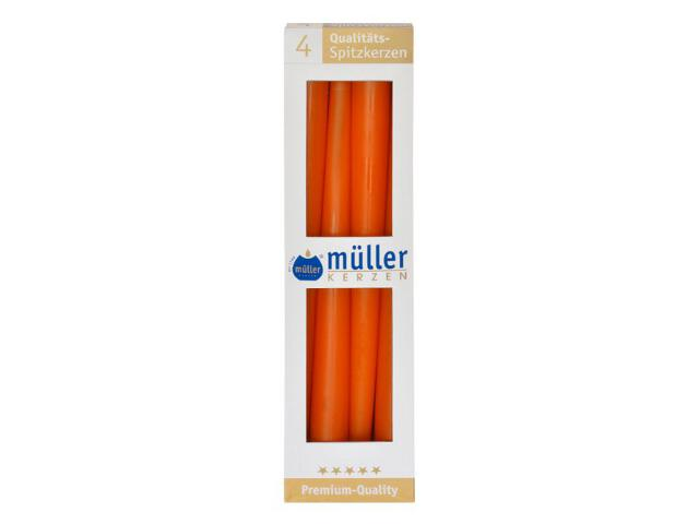 Świeca świecznikowa 295mm kpl 4szt kolor mandarynka Muller