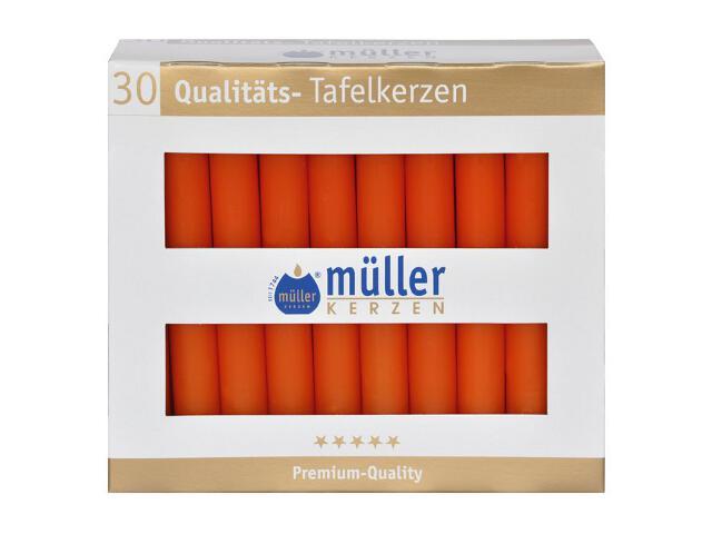 Świeca świecznikowa kpl 30szt kolor mandarynka Muller