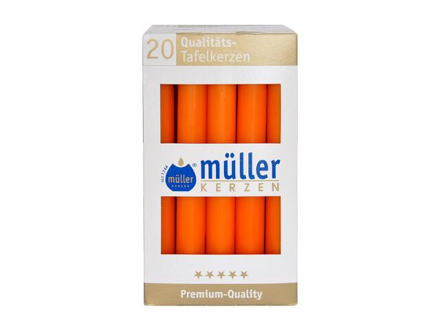 Świeca świecznikowa kpl 20szt kolor mandarynka Muller