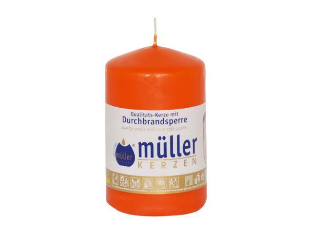 Świeca walec 90x55mm kolor mandarynka Muller