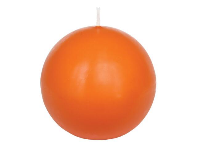 Świeca kula 95mm kolor mandarynka Muller