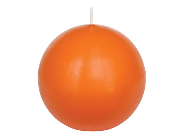 Świeca kula 75mm kolor mandarynka Muller