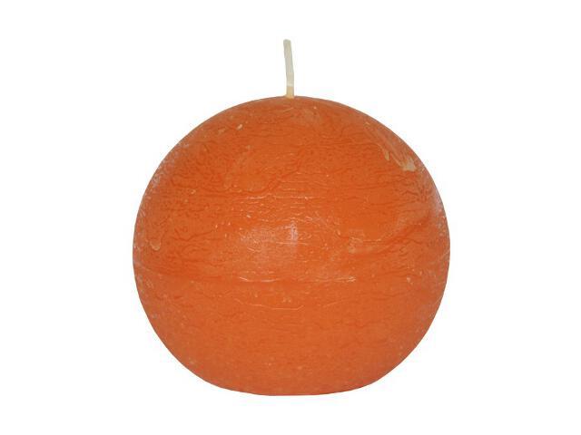 Świeca kula polarowa 86mm kolor mandarynka Muller