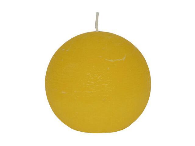 Świeca kula polarowa 86mm kolor żółty Muller