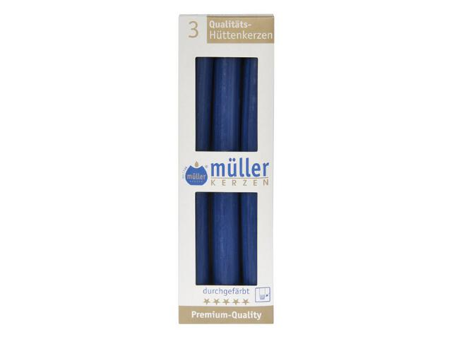 Świeca świecznikowa 250mm kpl 3szt kolor indigo Muller