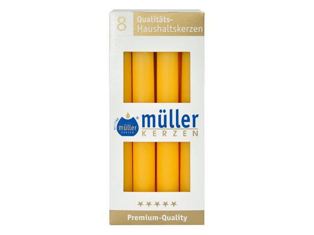 Świeca świecznikowa kpl 8szt kolor żółty Muller