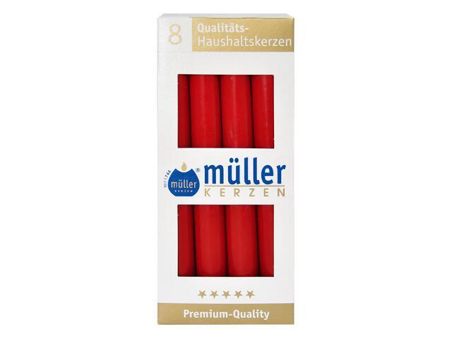 Świeca świecznikowa kpl 8szt kolor karminowy Muller
