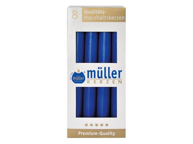 Świeca świecznikowa kpl 8szt kolor indigo Muller