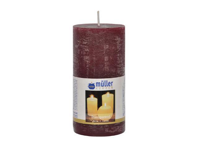 Świeca walec polarowy 125x58mm kolor wina Muller