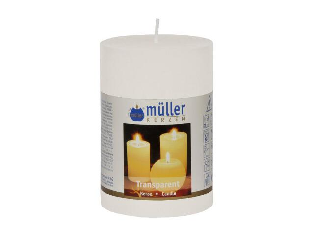 Świeca walec 100x68mm kolor biały Muller
