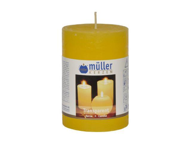 Świeca walec 100x68mm kolor żółty Muller