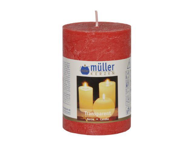 Świeca walec 100x68mm kolor czerwony Muller