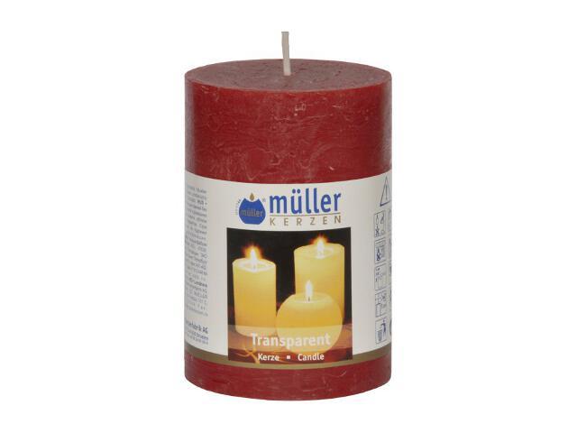 Świeca walec 100x68mm kolor wina Muller