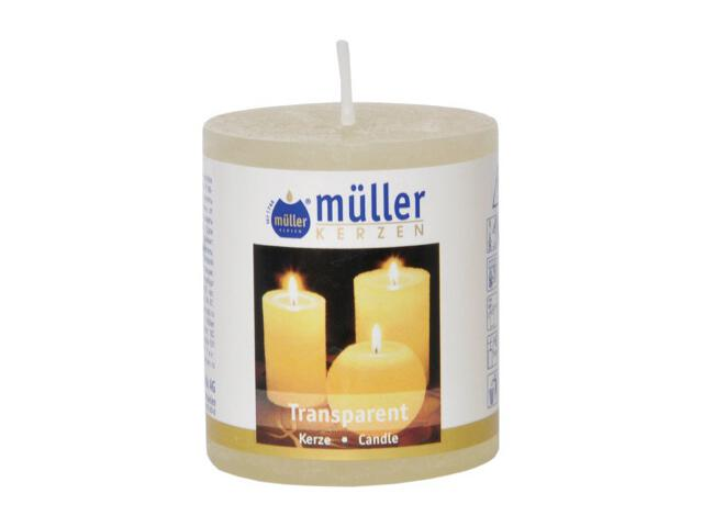 Świeca walec polarowy 60x50mm kolor waniliowy Muller