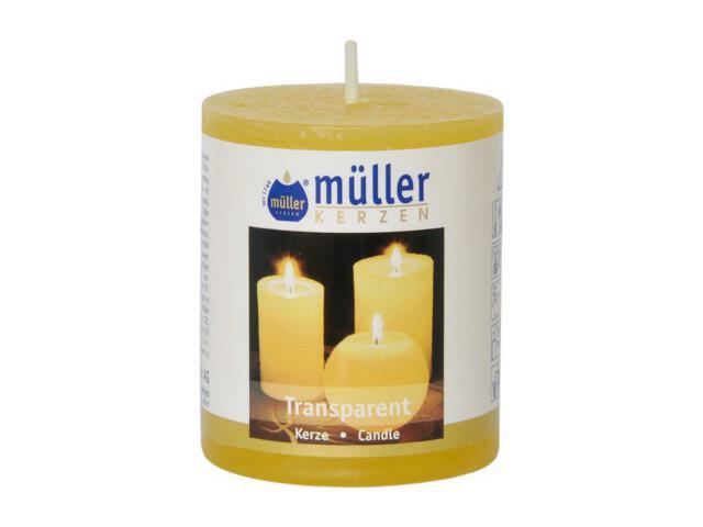 Świeca walec polarowy 60x50mm kolor żółty Muller