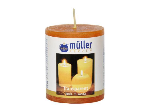 Świeca walec polarowy 60x50mm kolor mandarynka Muller