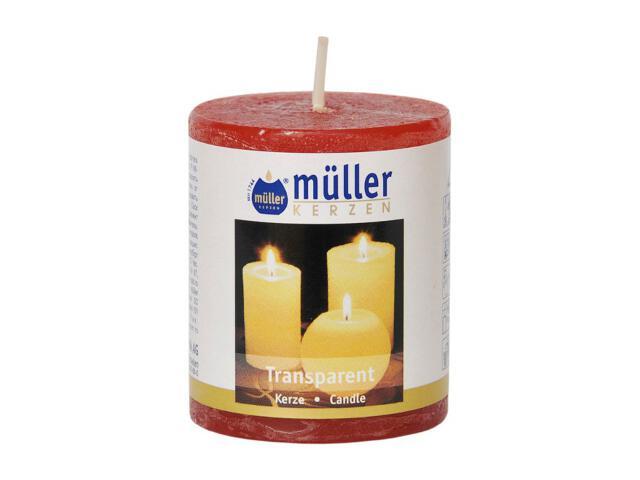 Świeca walec polarowy 60x50mm kolor czerwony Muller