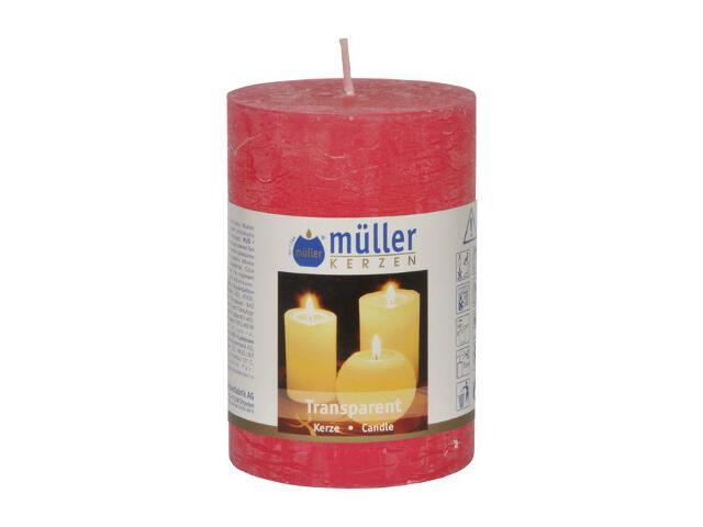 Świeca walec 100x68mm kolor malinka Muller