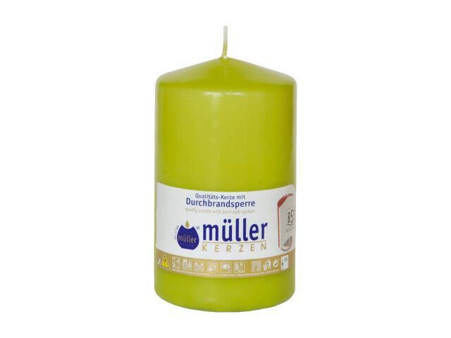 Świeca walec 130x75mm kolor majowa zieleń Muller
