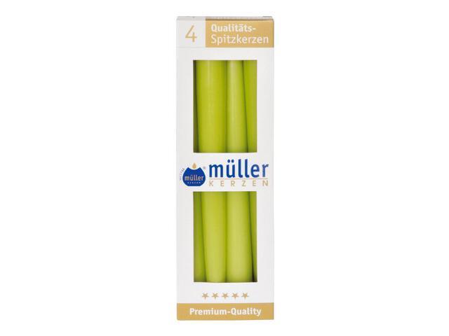 Świeca świecznikowa 245mm kpl 4szt kolor majowa zieleń Muller