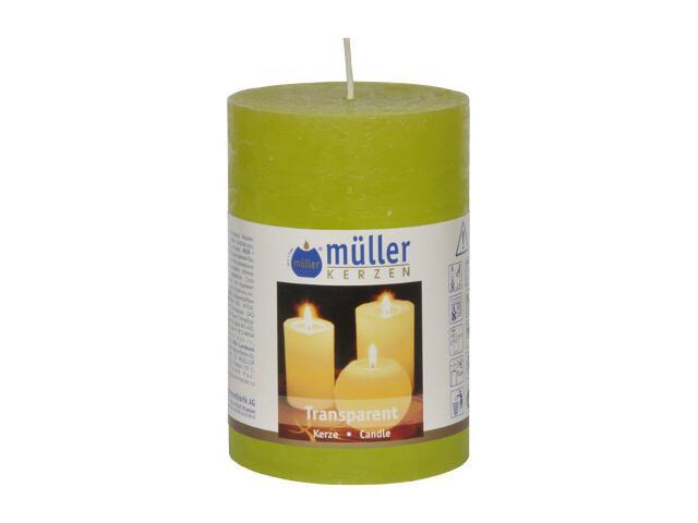 Świeca walec 100x68mm kolor majowa zieleń Muller
