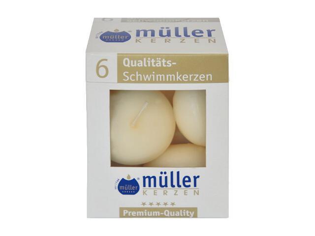 Świece pływające kpl 6szt kolor waniliowy Muller