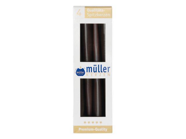 Świeca świecznikowa 245mm kpl 4szt kolor schoko Muller