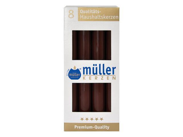 Świeca świecznikowa kpl 8szt kolor schoko Muller