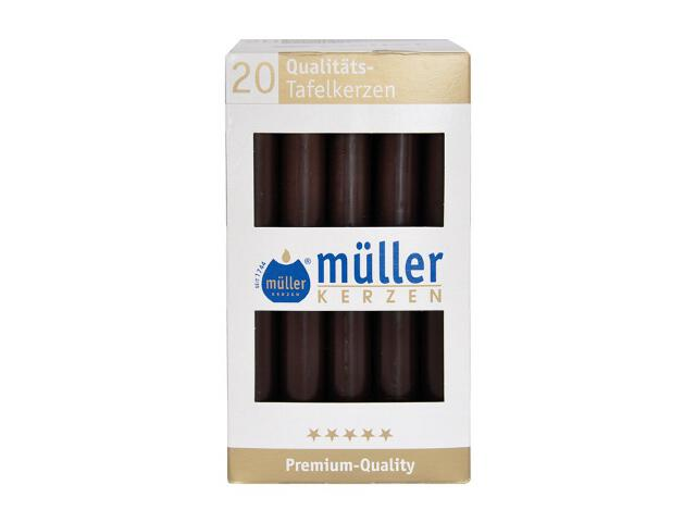 Świeca świecznikowa kpl 20szt kolor schoko Muller