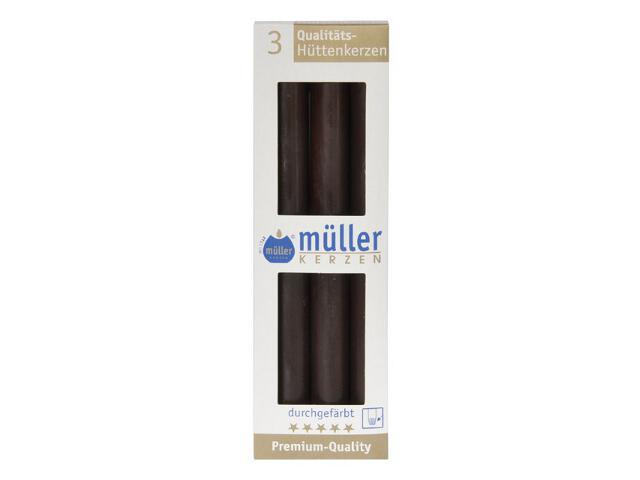 Świeca świecznikowa 250mm kpl 3szt kolor schoko Muller
