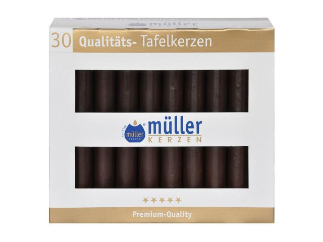 Świeca świecznikowa kpl 30szt kolor schoko Muller